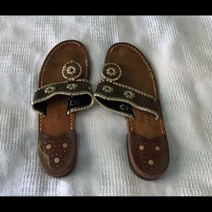 Jack Rogers Brown with Gold